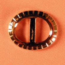 """3/4""""x5/8"""" Oval Buckle Silver Plated"""