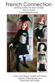 43cm BJD French Connection Printed Pattern