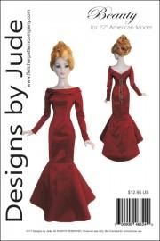 "Beauty, Gown Pattern for 22"" American Model PDF"