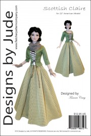 "Scottish Claire Pattern for 22"" American Model PDF"