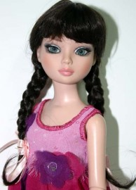 Black Wig with Braids and Bangs, Size 6-7, LaBelle