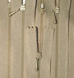 """4 1/2"""" Tan Zipper"""