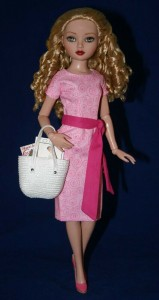 "Pink Going Shopping Dress for 16"" Ellowyne Dolls"
