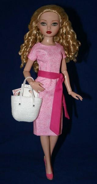 "Pink Going Shopping Dress for 16"" Ellowyne Dolls"