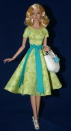 "Green Going Shopping Dress for 16"" Poppy Dolls"
