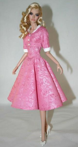 """1950's Swing Dress & Jacket for 16"""" Modsdoll Dolls"""