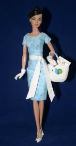 """Blue Going Shopping Dress for 16"""" Poppy Dolls"""