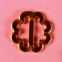 "3/4"" Flower Buckle Brass"