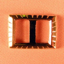 "5/8""x1/2"" Rectangle Buckle Silver Plated"