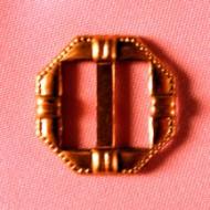 "3/4"" Octagon Buckle Brass"