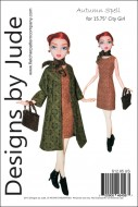 "Autumn Spell for 15.75"" City Girl Dolls Printed"