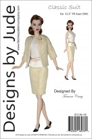 """Classic Suit for 12.5"""" Fashion Royalty East 59th PDF"""