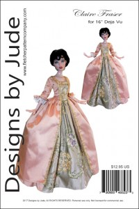 """Claire Fraser Gown for 16"""" Deja Vu Printed"""