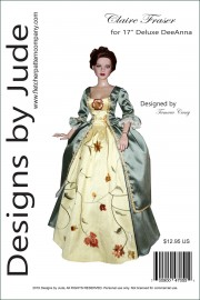 """Claire Fraser for 17"""" Deluxe DeeAnna PDF"""