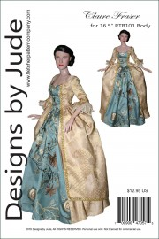 "Claire Fraser for 16.5"" RTB101 Body Dolls PDF"