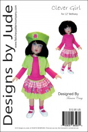 "Clever Girl for 12"" Bethany Kish Dolls Printed"