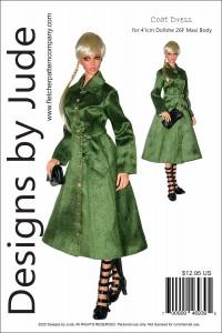 Coat Dress for 41cm Dollshe Amanda 26F Printed