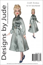 "Classic Coat Dress for 15.5"" Gene Marshall PDF"