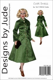 "Coat Dress for 16.5"" RTB101 Body Dolls PDF"
