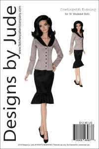 """Continental Evening for 16"""" Modsdoll Printed"""