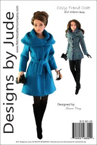 """Cozy Trend Coat for 16.5"""" RTB101 Grace Printed"""