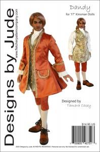 "Dandy Suit for 17"" Kinsman Dolls Printed"