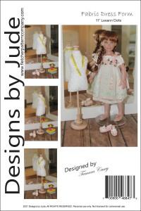 "Dress Form Pattern for 11"" Leeann Dolls Printed"