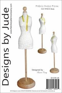 "Fabric Dress Form for 16.5"" RTB101 Body Dolls Printed"