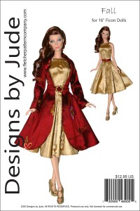 """Fall Coat and Dress Pattern for 16"""" Ficon Dolls PDF"""