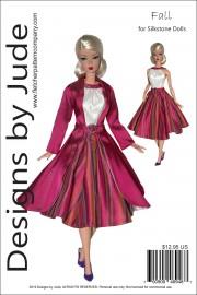 Fall Dress & Coat Pattern for Silkstone Barbie PDF