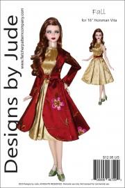 """Fall Dress & Coat for 16"""" Horsman Vita Printed"""