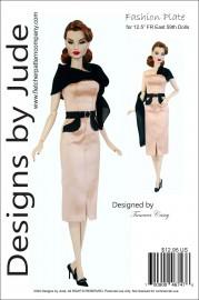 """Fashion Plate for 12.5"""" FR East 59th Dolls PDF"""