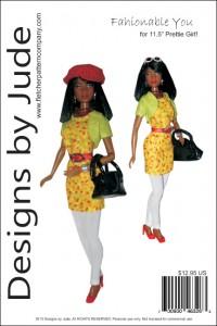 "Fashionable You Pattern for 11.5"" Prettie Girls PDF"