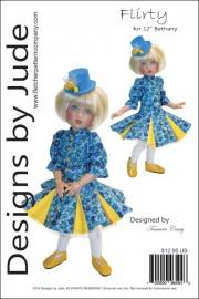 """Flirty Pattern for 12"""" Bethany Kish Dolls Printed"""