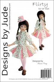 "Flirty Pattern for 14"" Kish Dolls PDF"