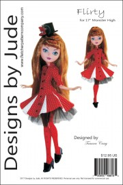 """Flirty for 17"""" Monster High & Ever After Printed"""