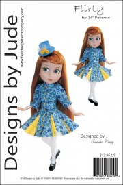 "Flirty Pattern for 14"" Patience Dolls Printed"