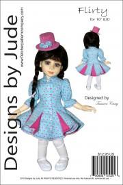 "Flirty Dress for 10"" Creedy BJD Dolls Printed"