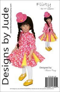 "Flirty Dress for 11"" Leeann Dolls Printed"