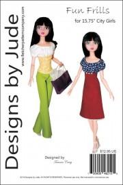"Fun Frills Pattern for 15.75"" City Girls PDF"