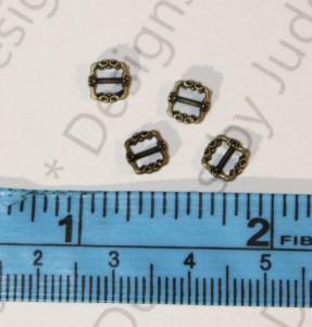 Bronze Color 12mm Tiny Mini Buckles - Set 2