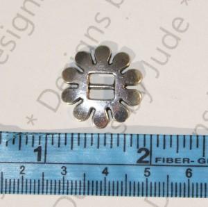 """3/4"""" Silver Flower Buckle"""
