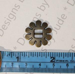 """3/4"""" Bronze Flower Buckle"""