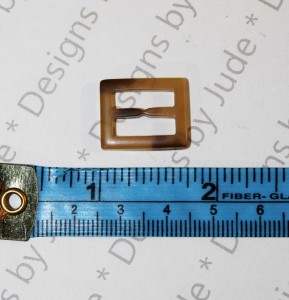 """3/4"""" Square Tortoise Shell Buckle"""