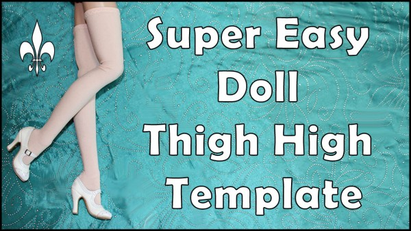 Free Thigh High Stocking Template for RTB101 Dolls PDF