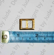 """3/4"""" x 5/8"""" Brass Square Buckle"""