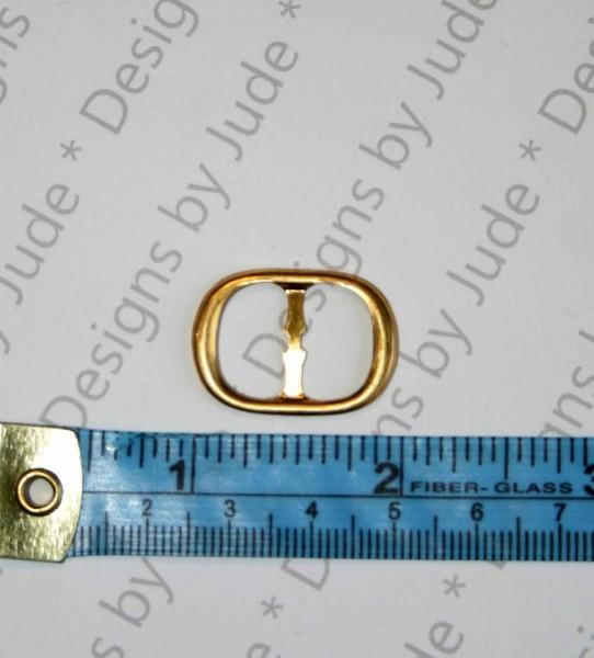 """1"""" x .75 Oval Brass Buckle"""