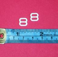 10mm White Sliders, 2 per pack