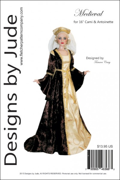 Designs By Jude Featuring Fletcher Pattern Company New Medieval Dress Pattern