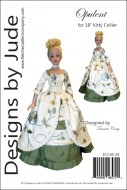 """Opulent Gown Pattern for 18"""" Kitty Collier Printed"""
